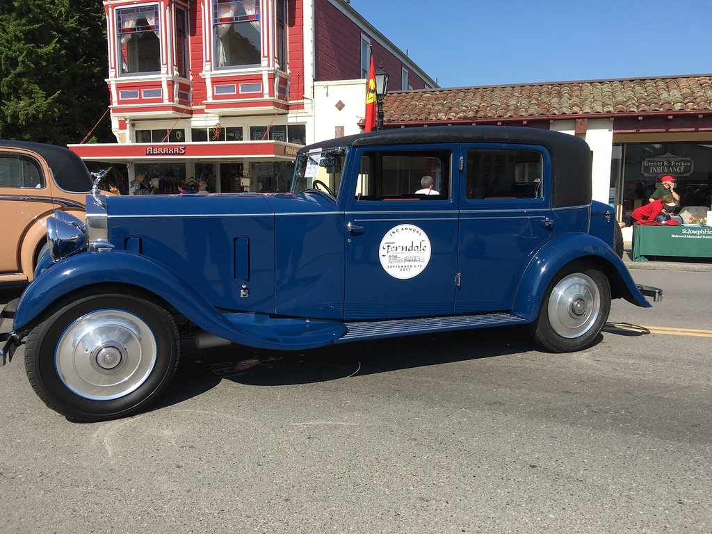 . Two Rolls Royce vehicles were parked on Main Street with Ferndale Concours logos on the doors. (Ruth Schneider - The Times-Standard)