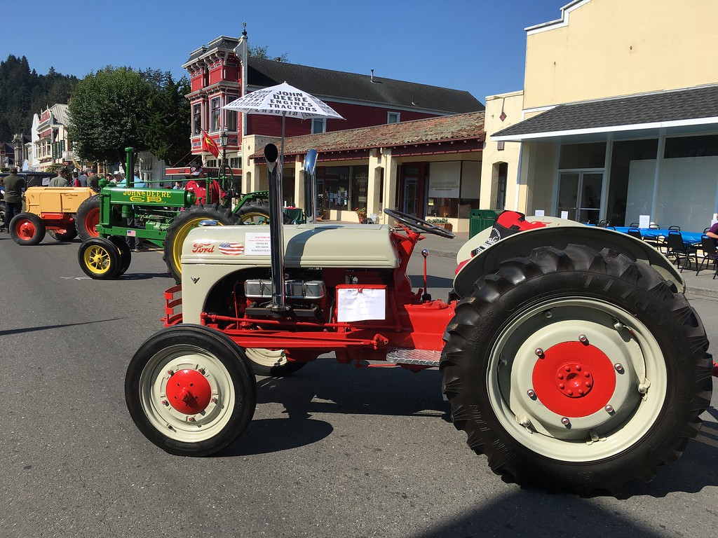 . In addition to cars, antique tractors and fire engines were on display. (Ruth Schneider - The Times-Standard)