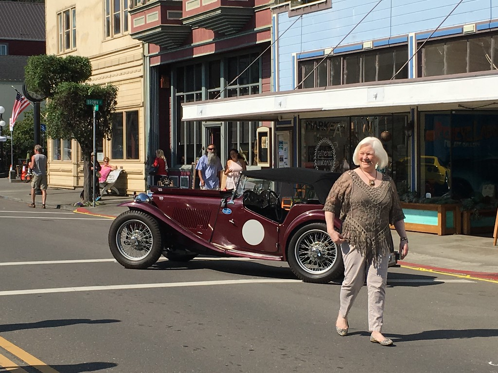 . Hundreds of people were walking on Main Street in Ferndale on Sunday morning as judging of cars was underway for the Ferndale Concours on Main. (Ruth Schneider - The Times-Standard)