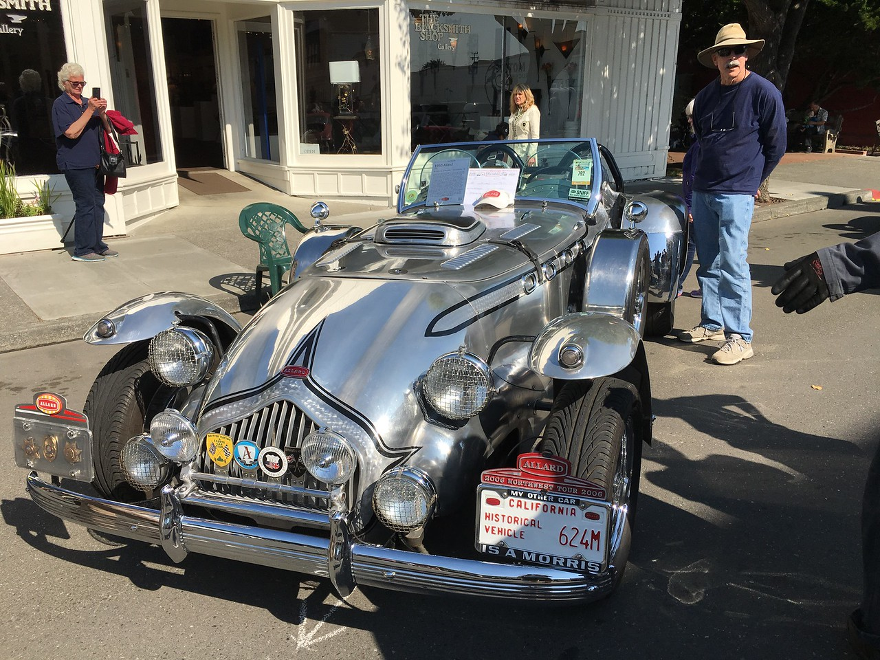 A 1950 Allard was on display on Main Street. It sports a historical vehicle license plate. It is owned by Sacramento resident Anthony Martinis. (Ruth Schneider - The Times-Standard)