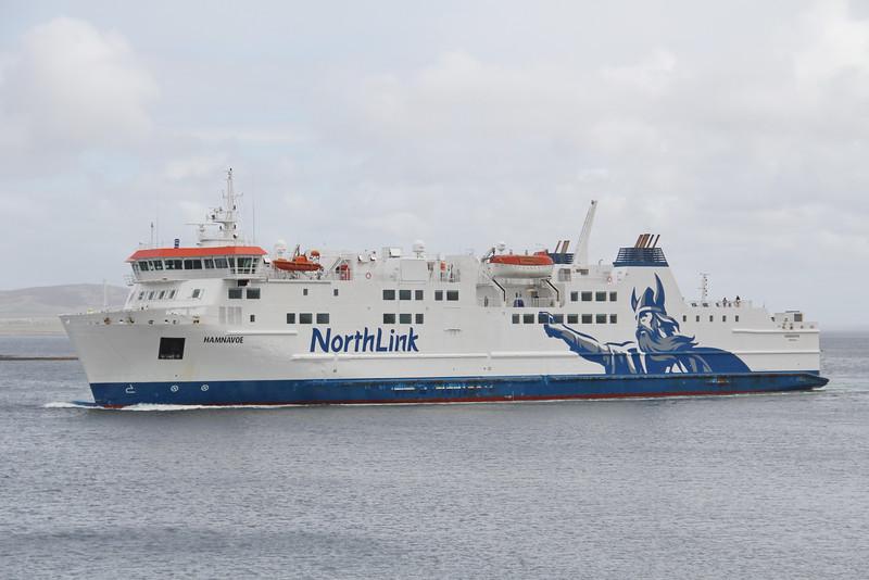 Northlink MV Hamnavoe approaching Stromness May 15