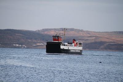 Loch Tarbert on finals for Tarbert, completing her daily return trip to Lochranza