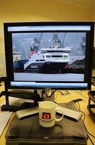 New ferry, new mug.....