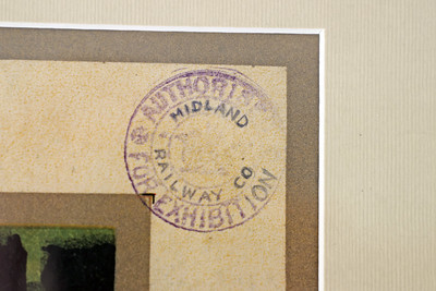 Midland Railway Co Authorised for Exhibition stamp on the RMS Columba poster