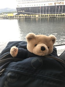CalMac stows away episode 3. Just as well he's on Dad's passport....