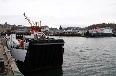 Loch Linnhe and Clansman at Oban 6th December 2013