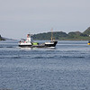 Eigg heading out of Oban bay to Lismore