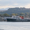 Isle of Arran tied up for night at layover berth on Rothesay pier