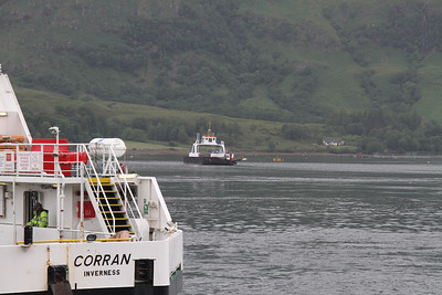 Maid of Glencoul moored mid channel