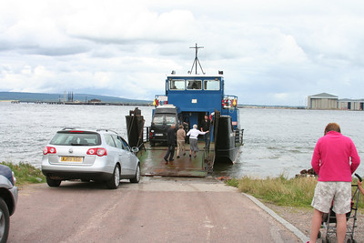 Second vehicle loads at Cromarty - looks like it could be a squeeze....