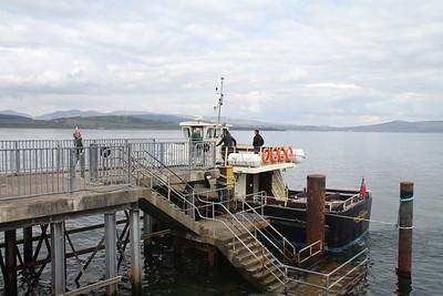 A lone passenger from Kilgreggan disembarks at Gourock