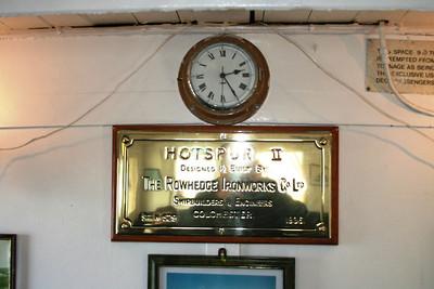 Hotspur II plate inside Kenilworth
