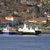 Ferry Bomlo and a fast craft ferry seen as we left Bergen