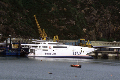 Stena Lynx III at Fishguard having had a spin from Rosslare