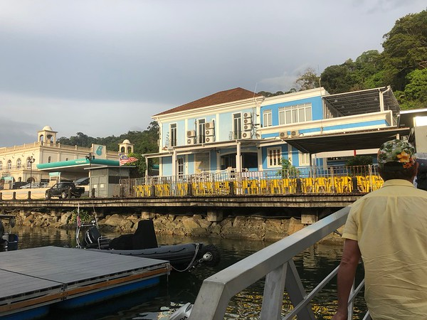 Ferry arrives at the Telaga Harbour