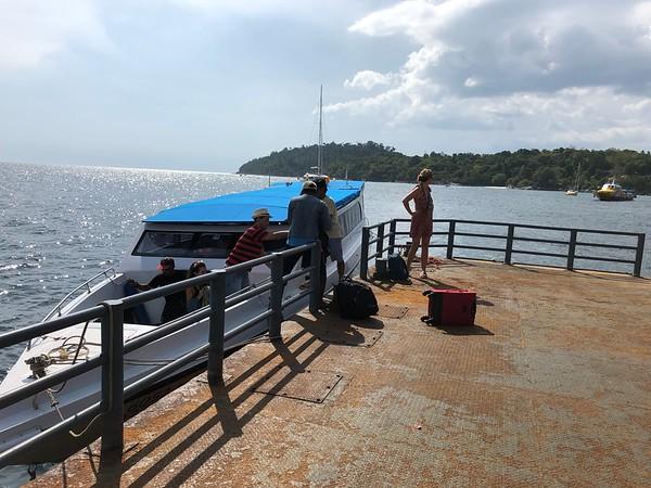 Arriving at the floating pier Pattaya Beach Koh Lipe