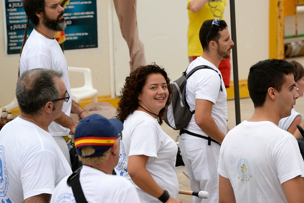 July 7, 2014 - Drumming at Tos Nosotros during Bous A La Mar (Bulls to the Sea) - Plaza de Toro - Denia, Spain during the 2014 Festa Major in honor of Santissma Sang (Most Holy Blood).