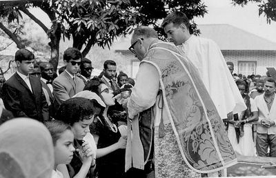 Andrada -Visita episcopal-Bispo Malange  Chico Braziel e Luis Macedo Simões
