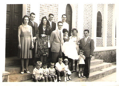 Baptizado do José Joaquim Padre Casimiro,casal Rêgo (Gualter e Ângela ), Licino, Lena