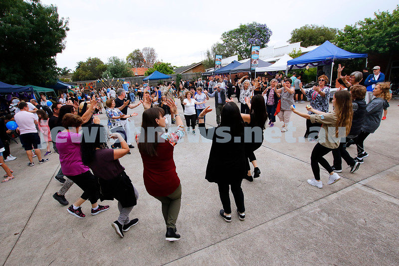 9-12-18. Festibayit. Annual Israeli chanukah festival at Beth Werizmann. Dance, dance, dance. Photo: Peter Haskin
