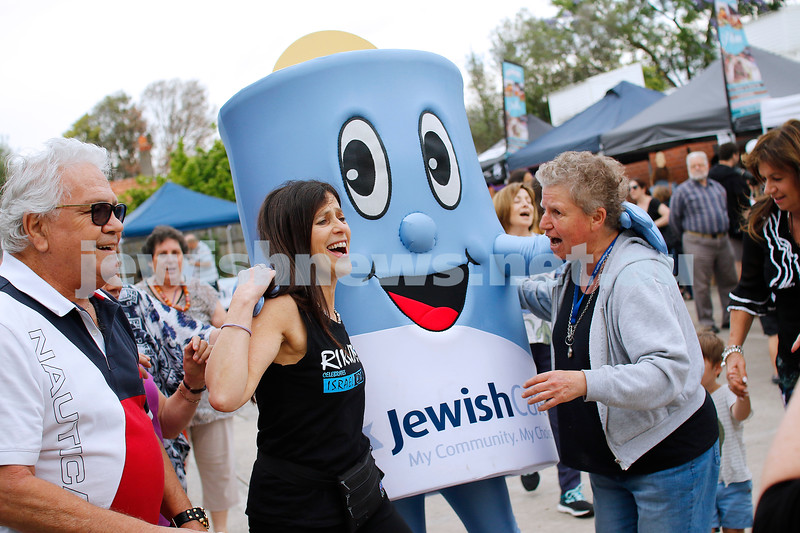 9-12-18. Festibayit. Annual Israeli chanukah festival at Beth Werizmann. Everyone was getting into the spirit. Photo: Peter Haskin