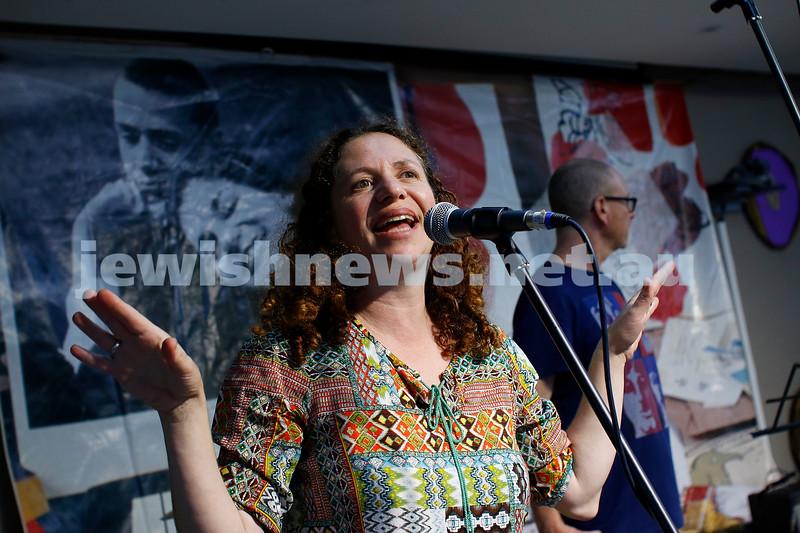 9-12-18. Festibayit. Annual Israeli chanukah festival at Beth Werizmann. Festibayit organiser, Hilily Kimchi. Photo: Peter Haskin