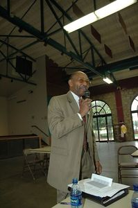 "Pastor Cecil Washington-Topeka KS. Address the question ""Getting Local, State, and Federal Elected Officals to Understand the Agenda of Our African American Community. Kansas Black Expo 2005."