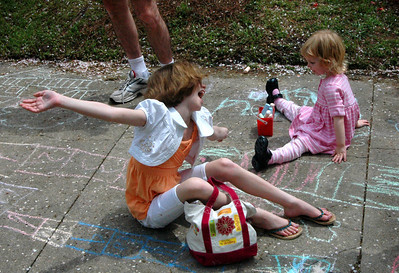 Sidewalk Chalk Art in 3rd St. Park