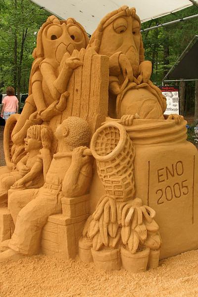 Sandy Feat sand sculpture.