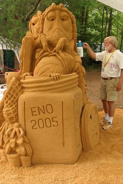 Sandy Feat sand sculpture.