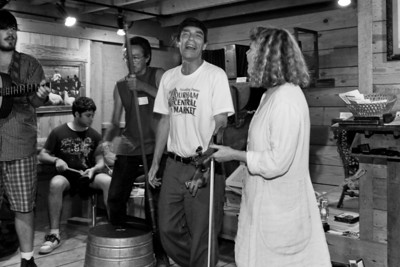 A jam session going on in the Hugh Mangum Photo Museum at the 2008 Festival for the Eno. -2200