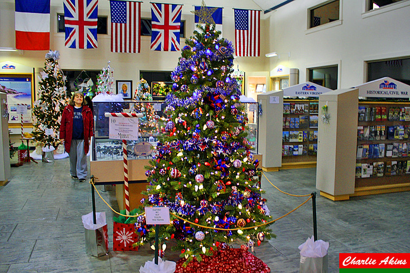 The National D-Day Memorial Foundation decorated this tree.