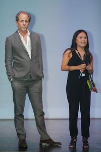 Mark Abraham y Daniela Torres