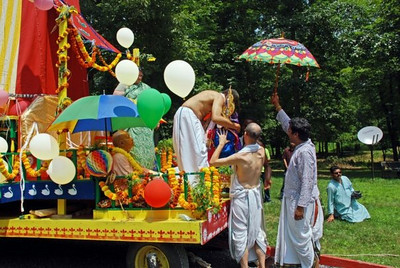 The first Jagannatha, the Lord of the Universe, Deity arrives