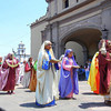 The Women In The Colorful Robes Offer Gifts To Their God