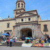 Palm Vendors In Front Of The Convento Selling Their Palm Creations To The Observers Of the Procession