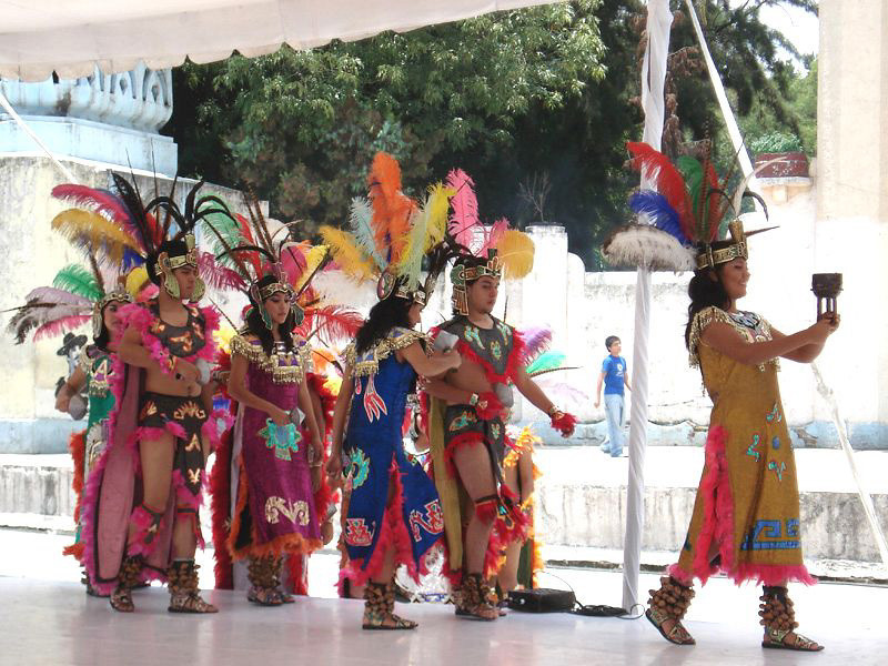 An Aztec Dance Festival In Mexico City
