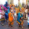 A Conchero Parade In Queretaro