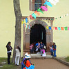 Otomi Women Waiting To Enter The Iglesia