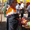 A Colorful Otomi Woman In Her Traditional Dress