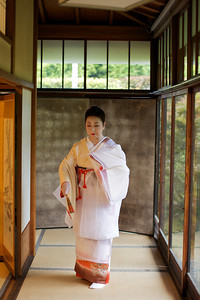 Traditional dance in Kimono.