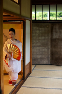 Traditional dance in Kimono, accompanied by Biwa play.