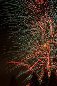 Fireworks at Tenjin Festival