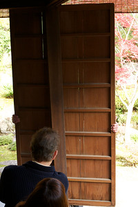 How to close the Rain Shutters at Nishimura Villa (Shinto Priest Home)  Guide Showing how to move it arround a Corner
