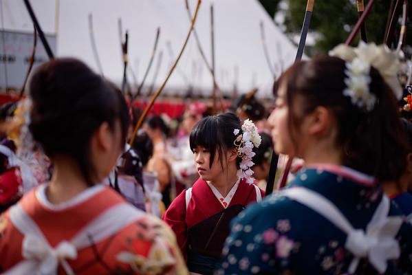 Kyudo at Sanjusangen-do