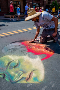 Arbor Lakes Chalkfest 2017 - Many Faces