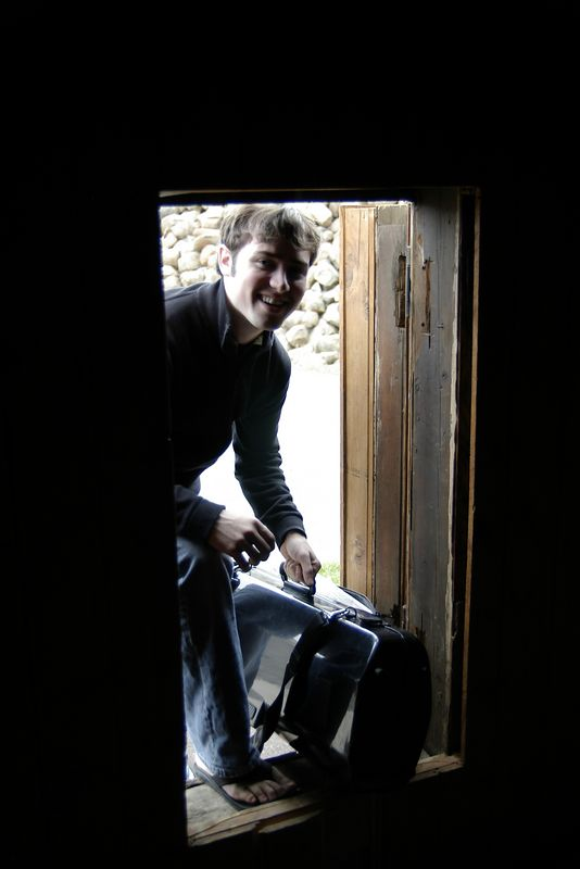 Chris enters the Cave