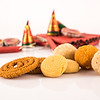 Diwali snacks with Diwali fire crackers