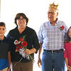 "Submitted photo<br /> Queen Beth Meyer and King Ed Nobbe were crowned during the royalty pageant. They were nominated by their grandchildren, Luke Meyer (left) and Katie Nobbe (right). Luke Meyer wrote, ""Beth Meyer is generous, nice, awesome grandma, friendly, welcoming and caring."" Katie Nobbe wrote about her grandfather, ""Every Thursday he will volunteer at St. Louis Bingo. He is on a food committee at the VFW and K of C. Whenever one of his grandkids has a game, he will go to watch."""