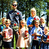 Debbie Blank | The Herald-Tribune<br /> King Joey Vodzak (back row), nominated by friend Aiden Greiwe (far left); and Queen Reita Watson, nominated by granddaughter Karsyn Watson, reigned over Applefest, along with (front row from left) Mr. Apple Bud Mason Leising, Miss Apple Dumpling Megan Townsley, Mr. Apple Jack Anthony Walke and Miss Apple Blossom Madison Navarra.